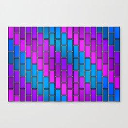 BRICK WALL #2 (Purples, Violets & Turquoises) Canvas Print