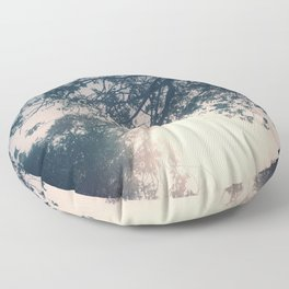 Lost in the Trees:  Periwinkle Floor Pillow