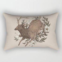Floral Elk Rectangular Pillow