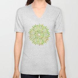 Mandala Desert Cactus Green Unisex V-Neck