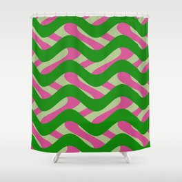 Abstract 3 HZ Shower Curtain