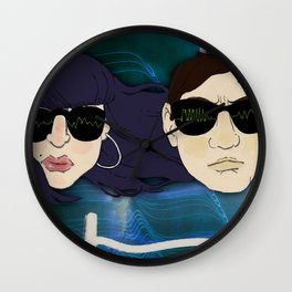 """Reign of Terror"" by Virgina McCarthy & Cap Blackard Wall Clock"