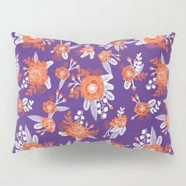 University football fan alumni clemson orange and purple floral flowers gifts Pillow Sham