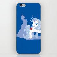 the last unicorn iPhone & iPod Skins featuring My Little Last Unicorn by Ashley Hay