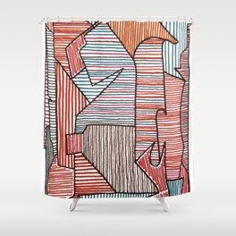 Bridget Riley Shower Curtain