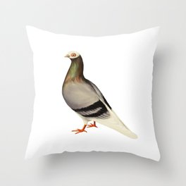Le Pigeon Throw Pillow