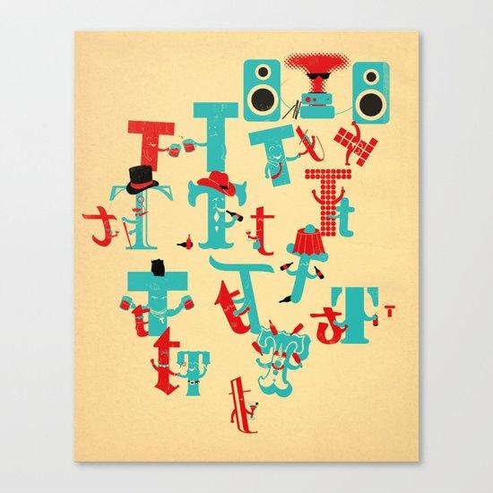 T Party Canvas Print