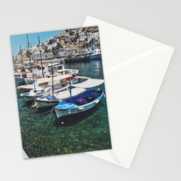 Boats in Greece Stationery Cards