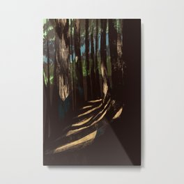 Path Through the Redwoods Metal Print