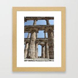 Paestum columns Framed Art Print