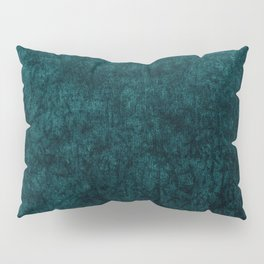 Teal Blue Velvet Texture Pillow Sham