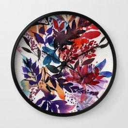 Floral Design, Flowers, Exotic, Vibrant Color, Watercolor flowers, Decor Wall Clock
