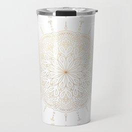 Gold mandala pattern Travel Mug