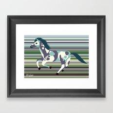 Running Horse Framed Art Print