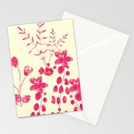 Watercolor floral garden  II Stationery Cards
