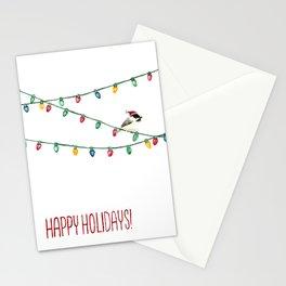 Happy Holidays Chickadee Stationery Cards