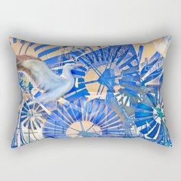 Wind Punk Blues Rectangular Pillow
