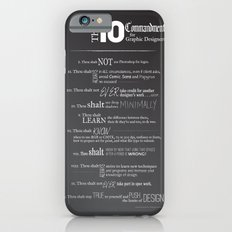 The 10 Commandments for Graphic Designers iPhone 6s Slim Case