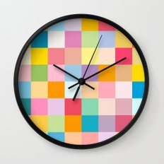 Candy colors Wall Clock