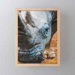 Rhino Framed Mini Art Print