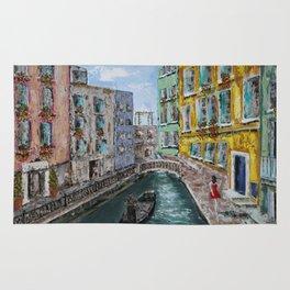 Venice Girl & Gondola Rug