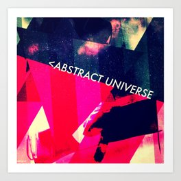abstract universe. Art Print