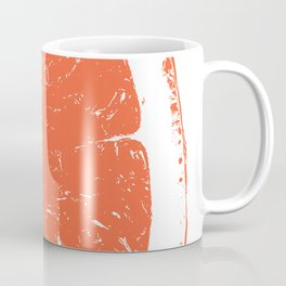 Orange Block Print Coffee Mug