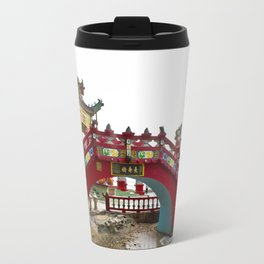 Beautiful Red Temple to Water Goddess in Hong Kong Travel Mug