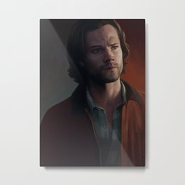 Sam Winchester. Red Jacket Metal Print
