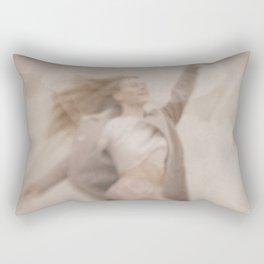 Jumping woman Rectangular Pillow