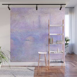 "Claude Monet ""Waterloo Bridge, Effect of Fog"" Wall Mural"