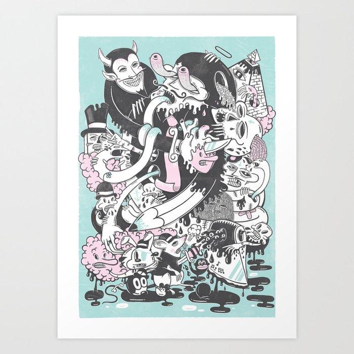Deadly Sins Art Print