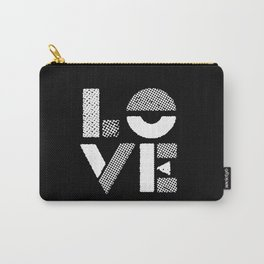 Love black and white contemporary minimalist typography design home wall decor bedroom Carry-All Pouch