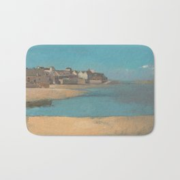 Odilon Redon - Village by the Sea in Brittany Bath Mat