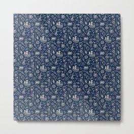 Pirate Play - Blue Metal Print