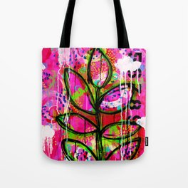 Leaves painting - Abstract Tote Bag