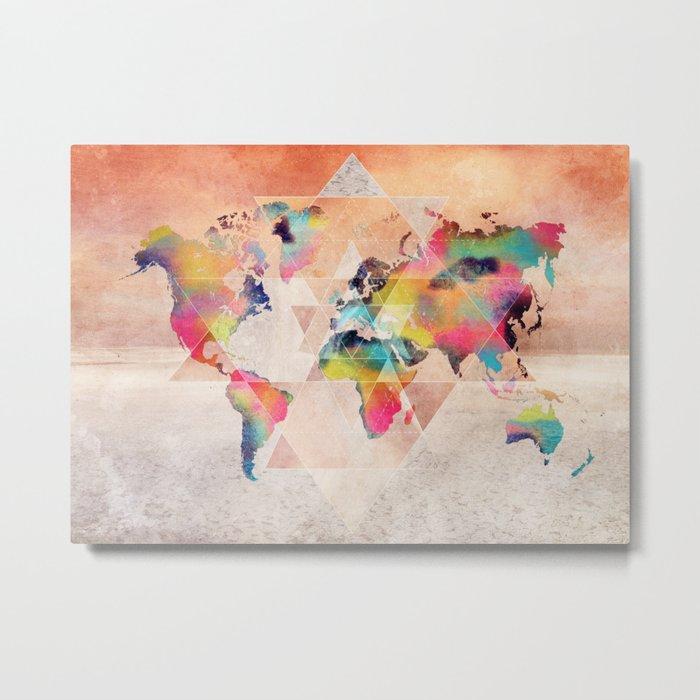 world map 33 sacred Metal Print