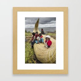 Titicaca lake Uros Framed Art Print