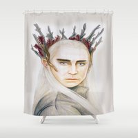 thranduil Shower Curtains featuring Thranduil by Olivia Nicholls-Bates