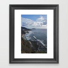 Coastal Cliff Framed Art Print