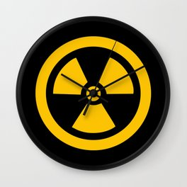 Yellow Radioactive Wall Clock