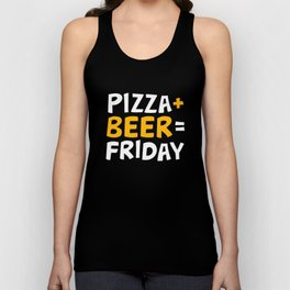 Pizza + beer = Friday Unisex Tank Top