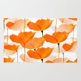 Orange Poppies On A White Background #decor #society6 #buyart Rug