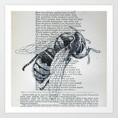 Honey, My Honeybee Art Print