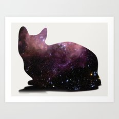 Willow the Galaxy Cat! Art Print
