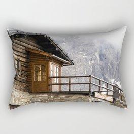 Alpine hut (chalet) Rectangular Pillow