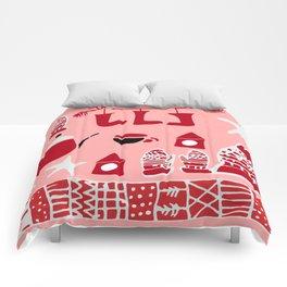 winter gear pink Comforters