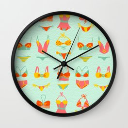 Bikini Collection on Mint Wall Clock