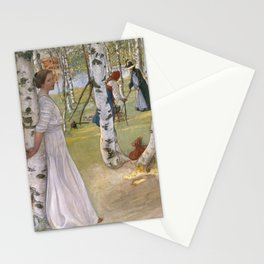 Carl Larsson - Breakfast In The Open Stationery Cards