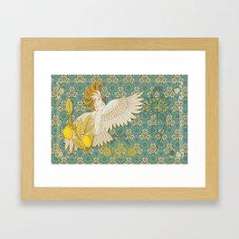 Hoopoe Parrot and Citrus Framed Art Print